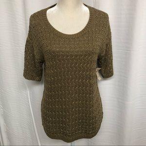 Coldwater Creek Lattice stitch sweater women's S